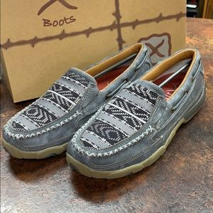New Twisted X Driving Moc Gray Slip on Shoe